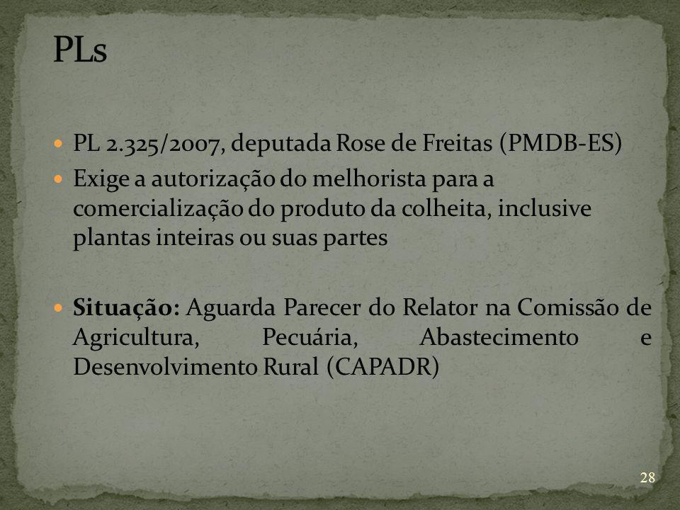 PLs PL 2.325/2007, deputada Rose de Freitas (PMDB-ES)