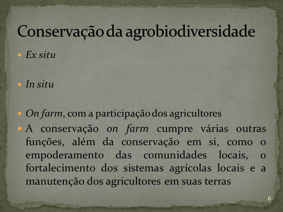 Conservação da agrobiodiversidade