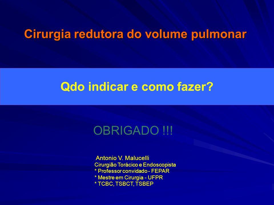 Cirurgia redutora do volume pulmonar