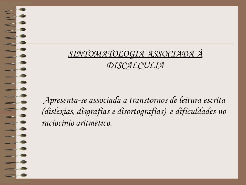 SINTOMATOLOGIA ASSOCIADA À DISCALCULIA
