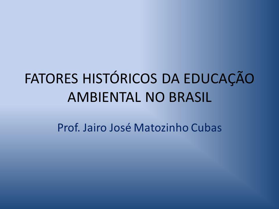 FATORES HISTÓRICOS DA EDUCAÇÃO AMBIENTAL NO BRASIL