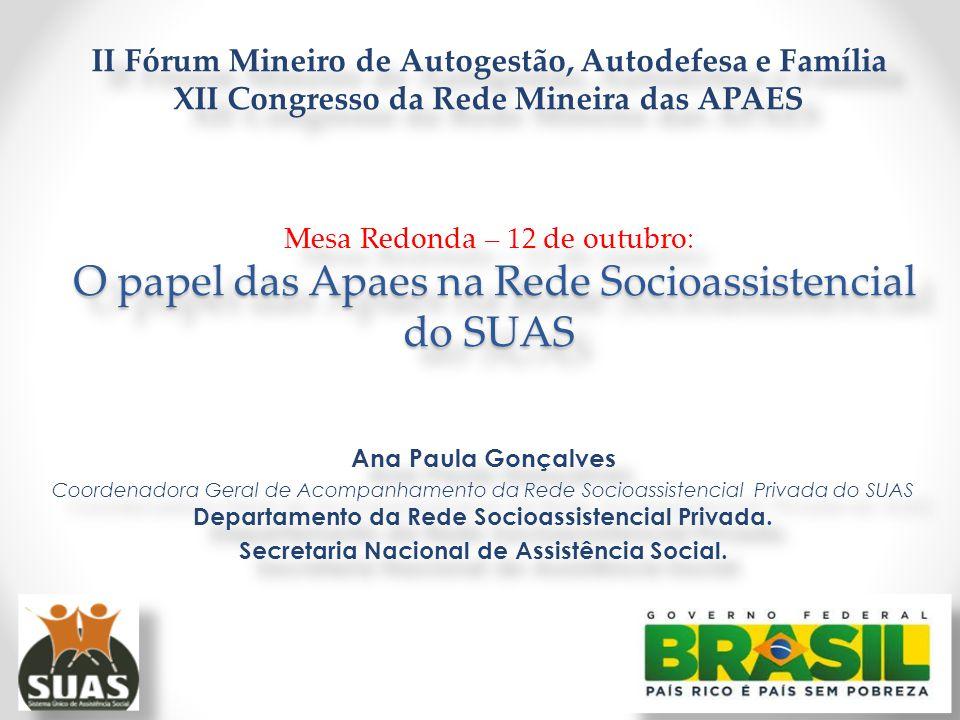 Secretaria Nacional de Assistência Social.