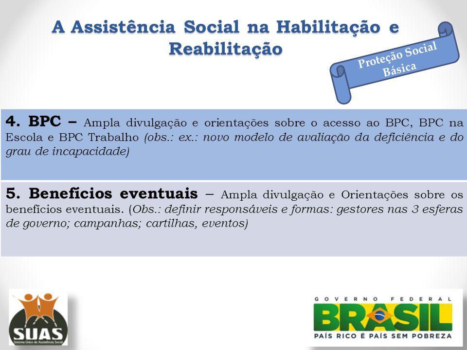 A Assistência Social na Habilitação e Reabilitação