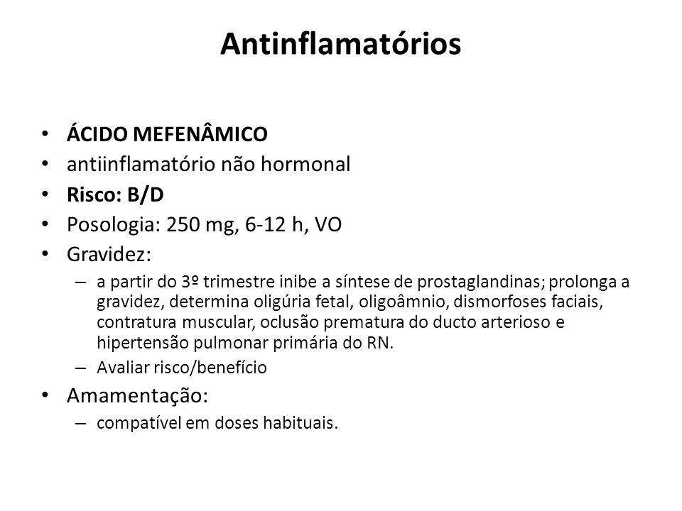 Antinflamatórios ÁCIDO MEFENÂMICO antiinflamatório não hormonal