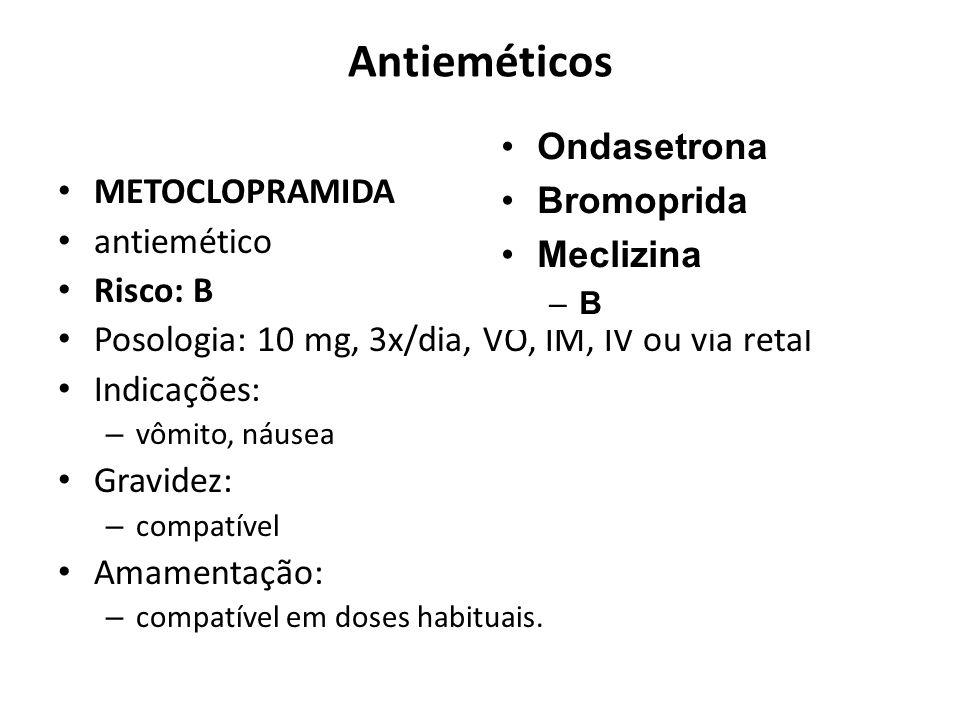 Antieméticos Ondasetrona Bromoprida METOCLOPRAMIDA Meclizina