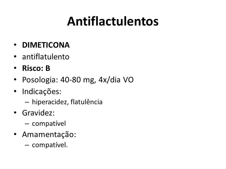 Antiflactulentos DIMETICONA antiflatulento Risco: B