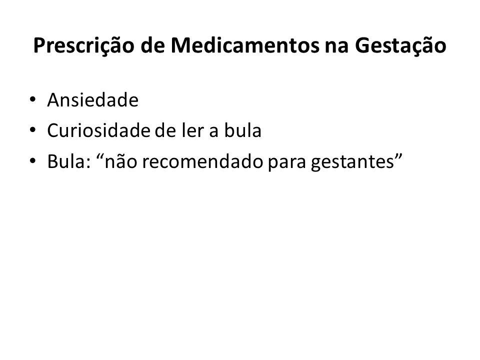 Prescrição de Medicamentos na Gestação