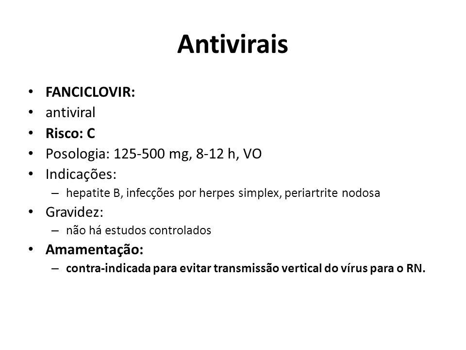 Antivirais FANCICLOVIR: antiviral Risco: C