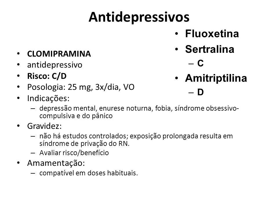 Antidepressivos Fluoxetina Sertralina Amitriptilina C CLOMIPRAMINA