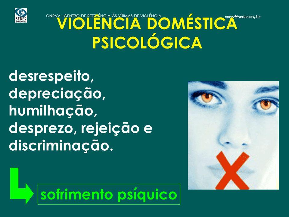 VIOLÊNCIA DOMÉSTICA PSICOLÓGICA