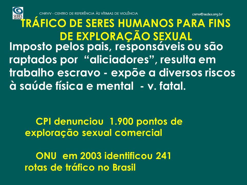 TRÁFICO DE SERES HUMANOS PARA FINS DE EXPLORAÇÃO SEXUAL