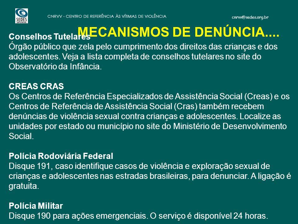 MECANISMOS DE DENÚNCIA....