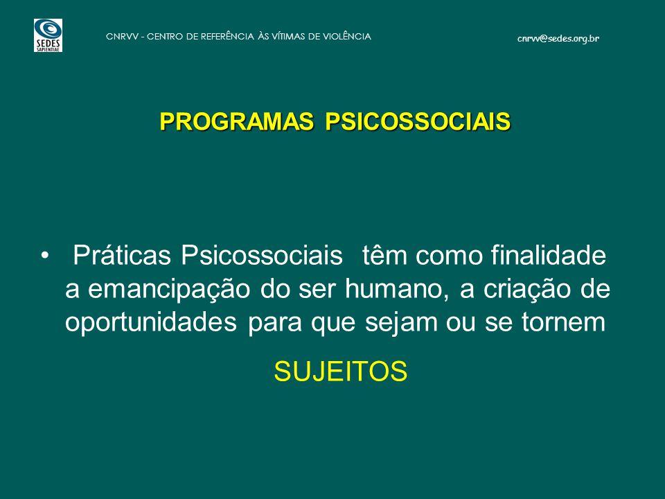 PROGRAMAS PSICOSSOCIAIS