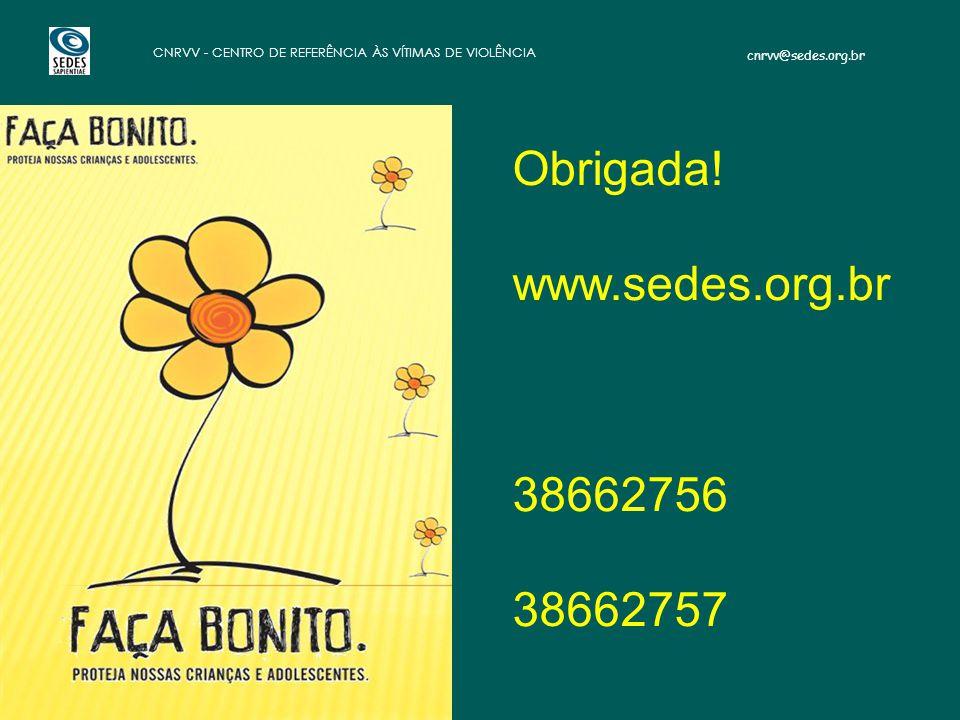 Obrigada! www.sedes.org.br 38662756 38662757