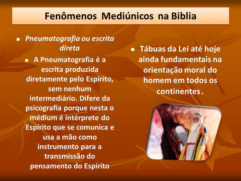Fenômenos Mediúnicos na Biblia