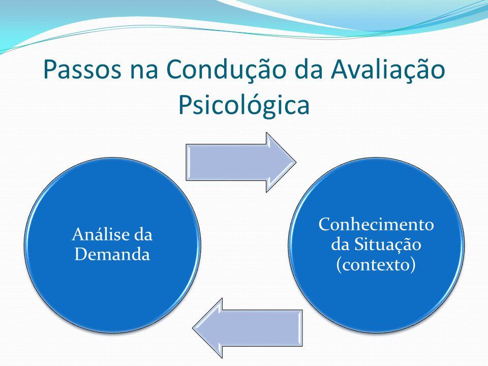 Passos na Condução da Avaliação Psicológica
