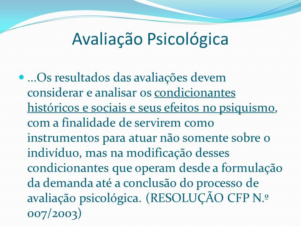 Avaliação Psicológica