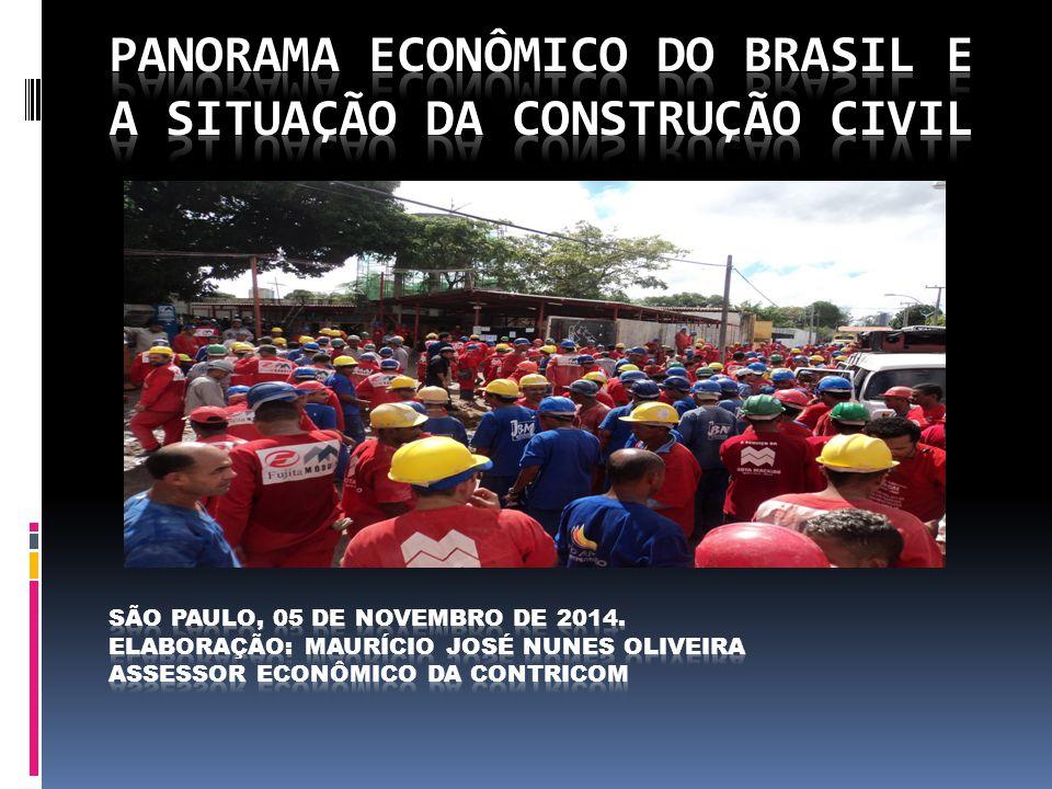 Panorama econômico do Brasil e a situação da Construção Civil São Paulo, 05 de novembro de 2014.