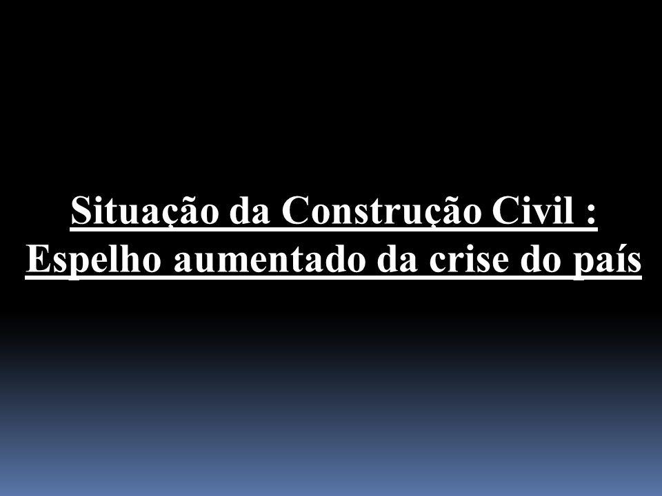Situação da Construção Civil : Espelho aumentado da crise do país