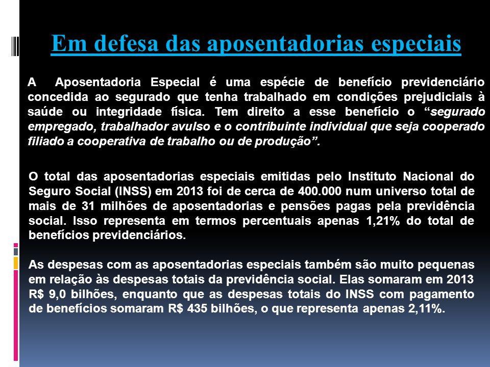 Em defesa das aposentadorias especiais