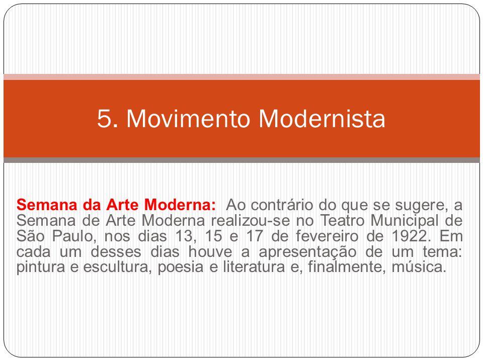 5. Movimento Modernista