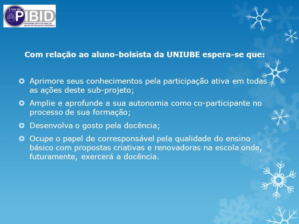 Com relação ao aluno-bolsista da UNIUBE espera-se que: