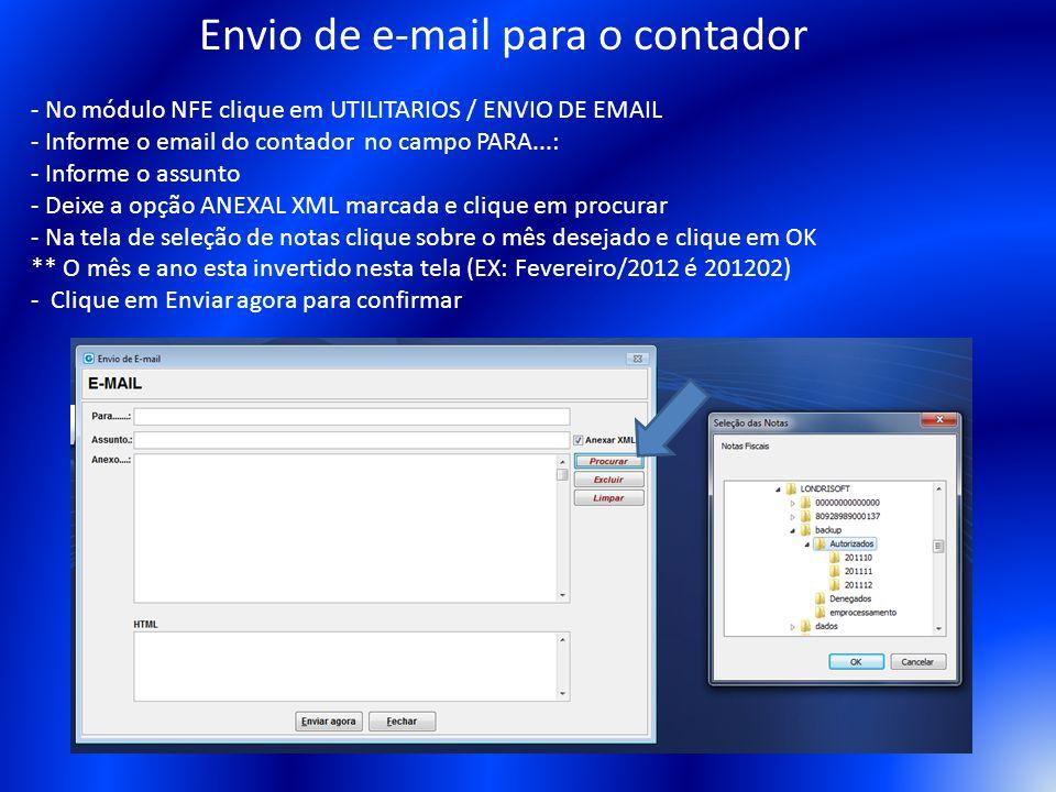 Envio de e-mail para o contador