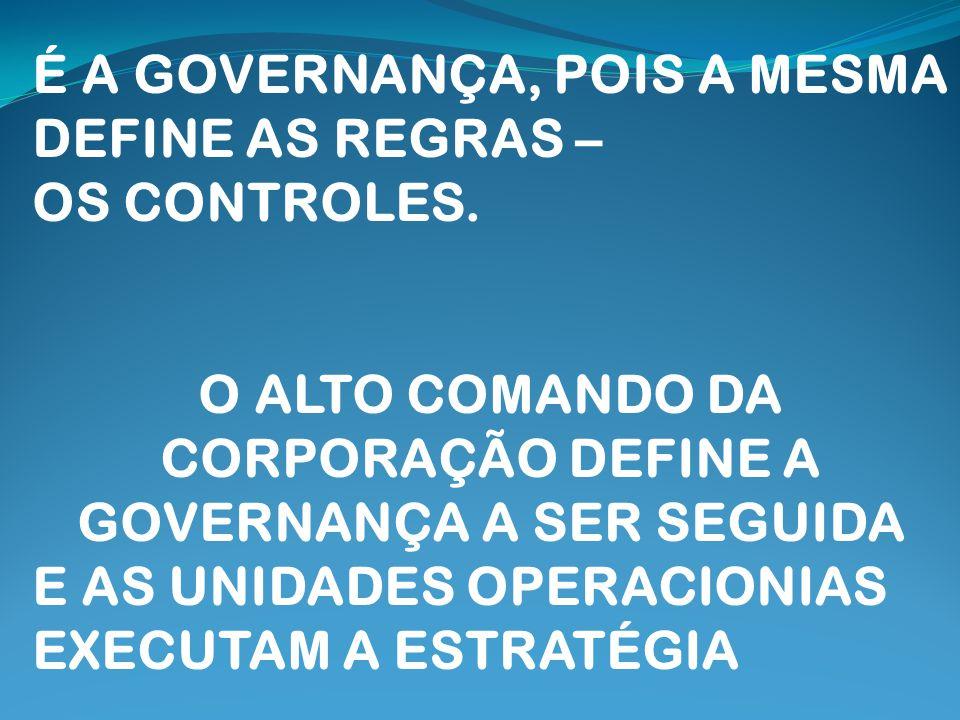 O ALTO COMANDO DA CORPORAÇÃO DEFINE A GOVERNANÇA A SER SEGUIDA