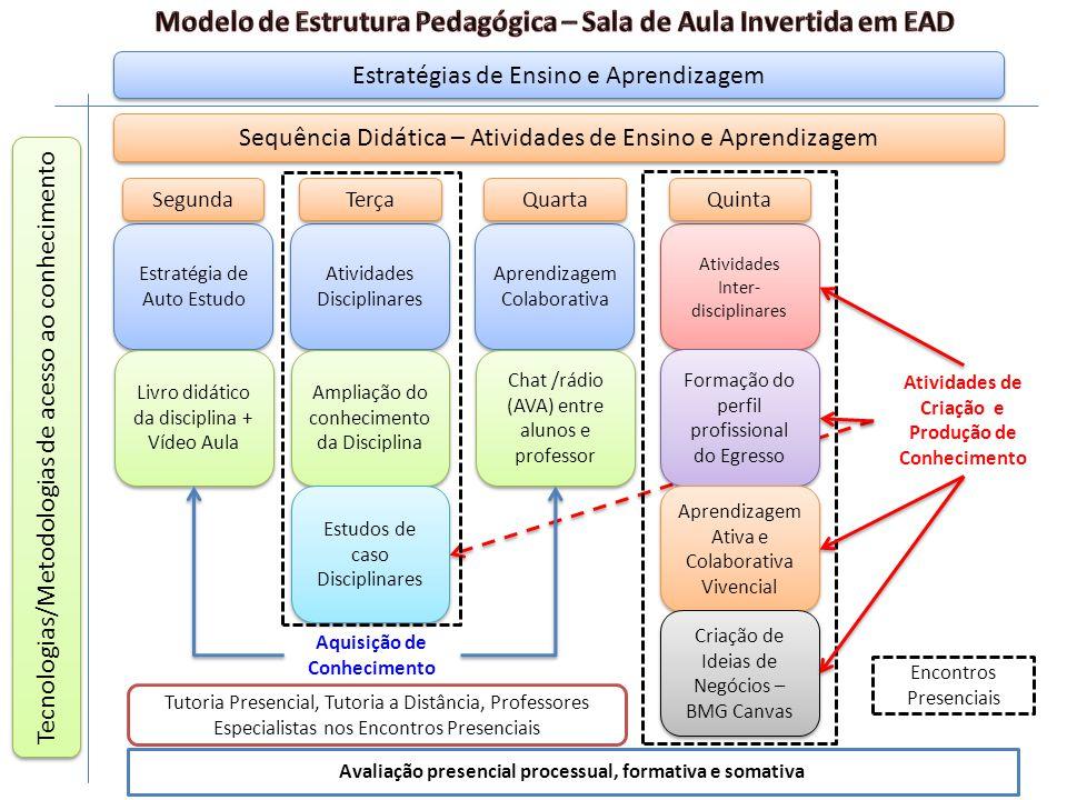 Modelo de Estrutura Pedagógica – Sala de Aula Invertida em EAD