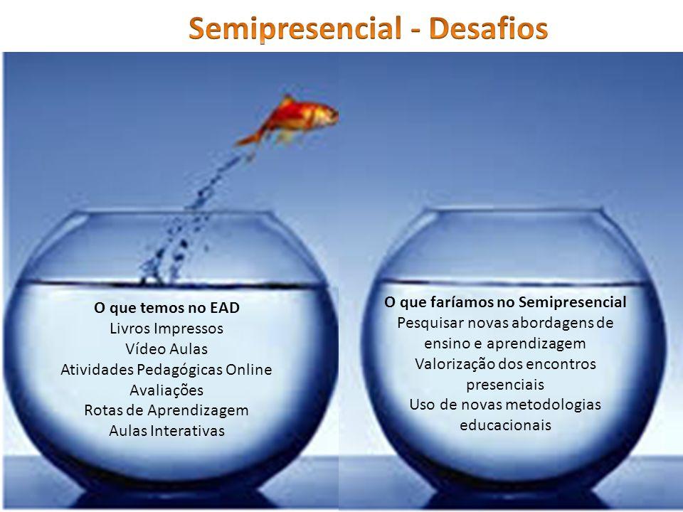 Semipresencial - Desafios O que faríamos no Semipresencial