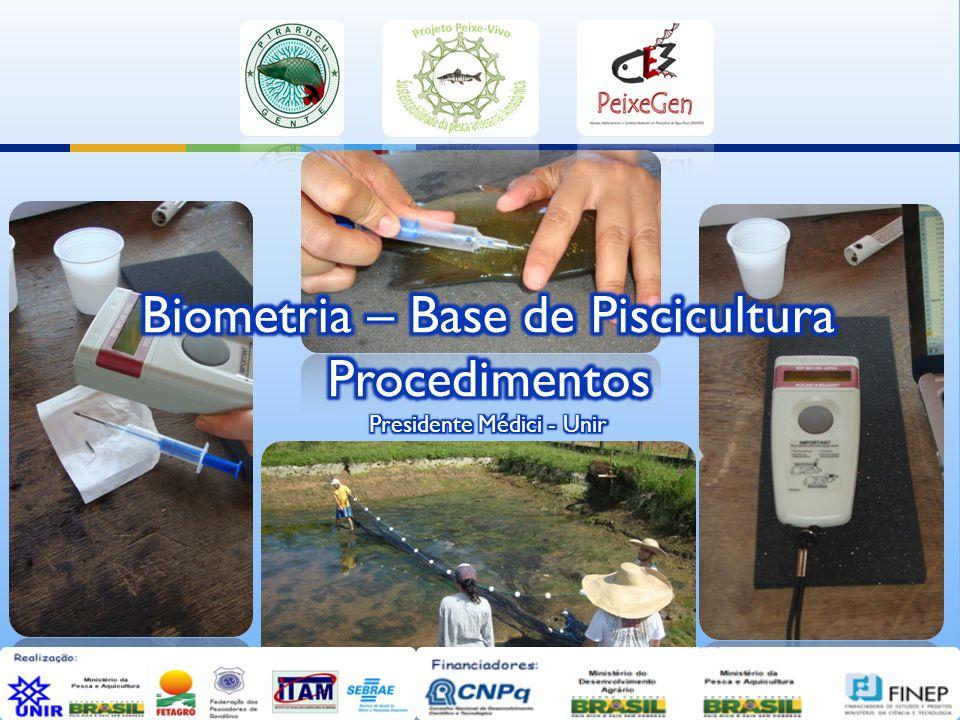 Biometria – Base de Piscicultura Procedimentos Presidente Médici - Unir