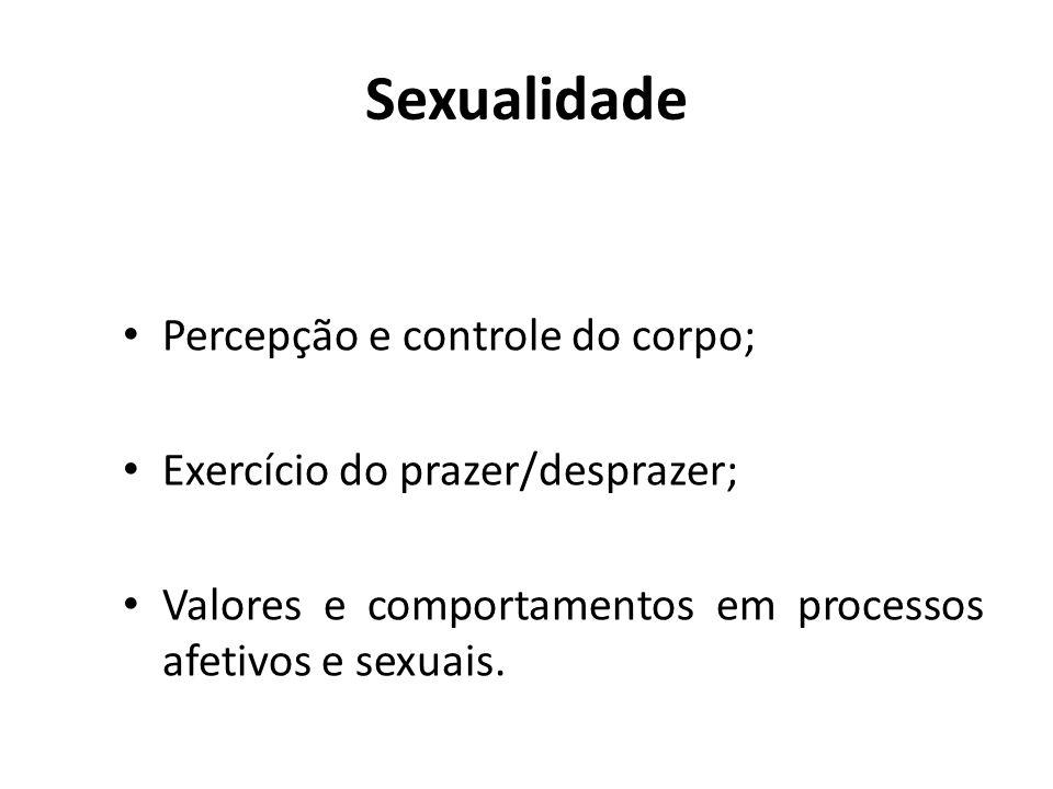 Sexualidade Percepção e controle do corpo;