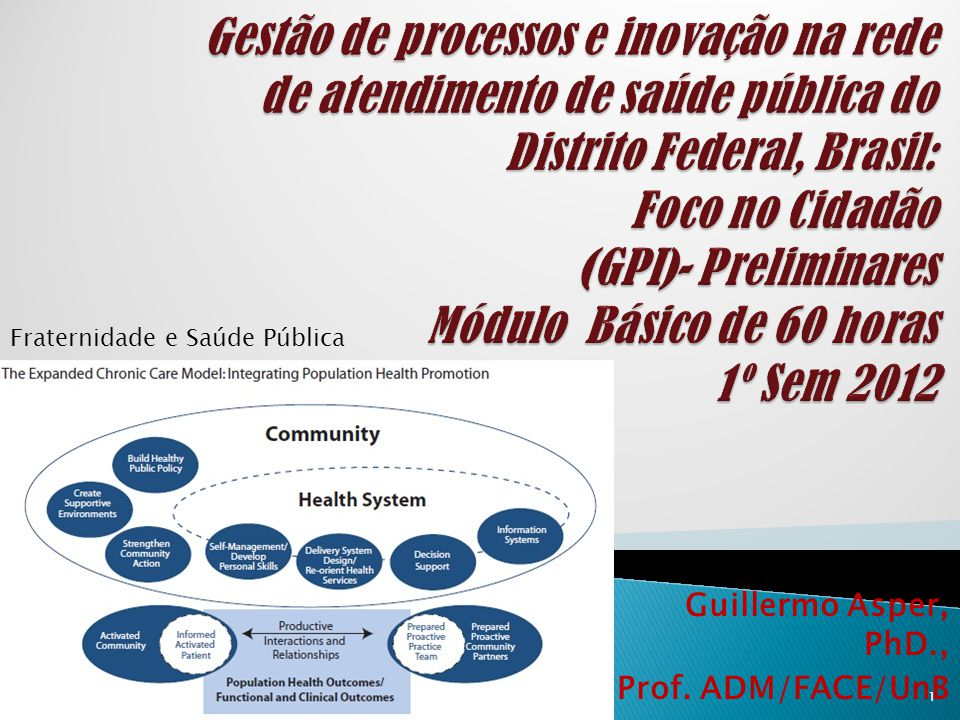 Guillermo Asper, PhD., Prof. ADM/FACE/UnB