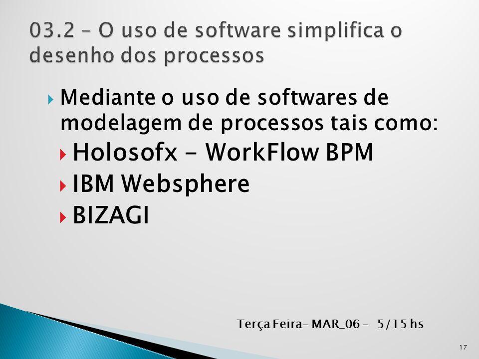 03.2 – O uso de software simplifica o desenho dos processos