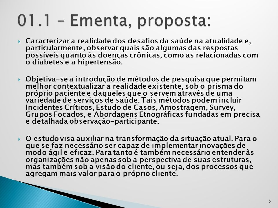 01.1 – Ementa, proposta: