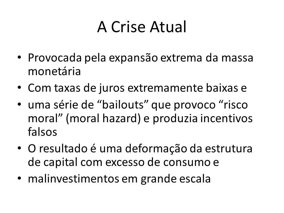 A Crise Atual Provocada pela expansão extrema da massa monetária