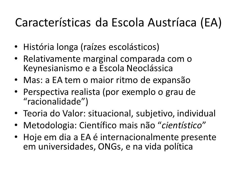 Características da Escola Austríaca (EA)