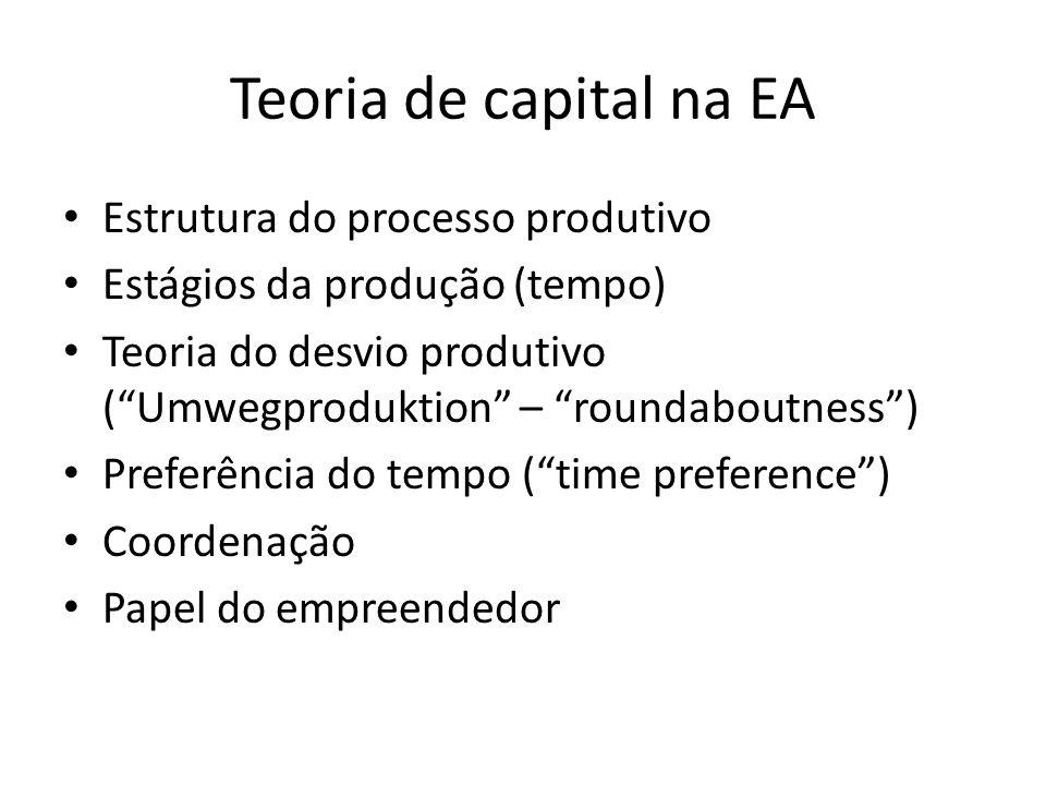 Teoria de capital na EA Estrutura do processo produtivo