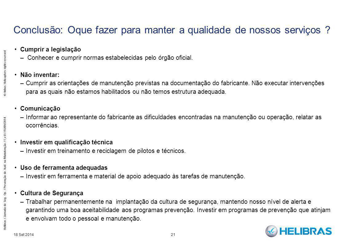 Conclusão: Oque fazer para manter a qualidade de nossos serviços