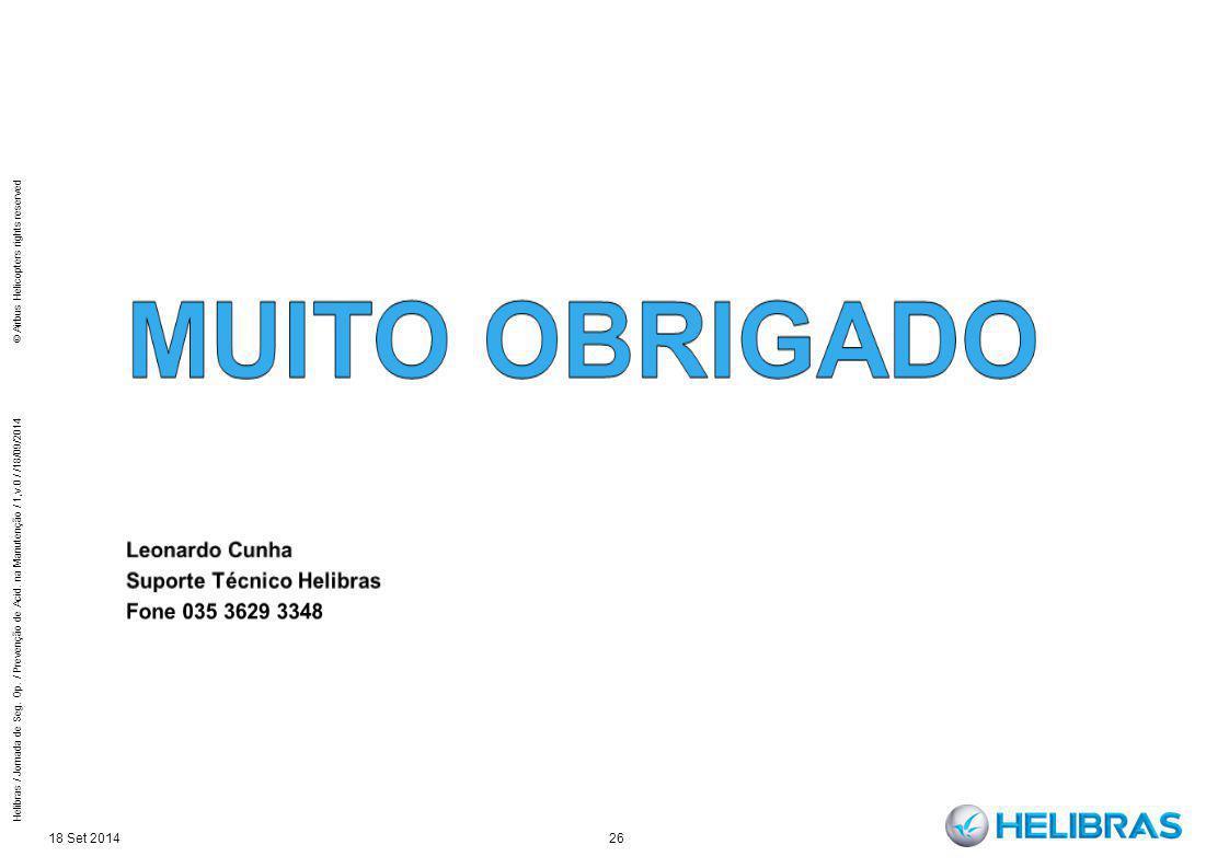 Muito obrigado Leonardo Cunha Suporte Técnico Helibras