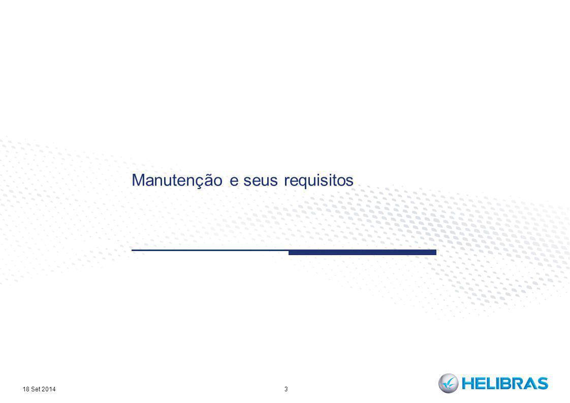 Manutenção e seus requisitos