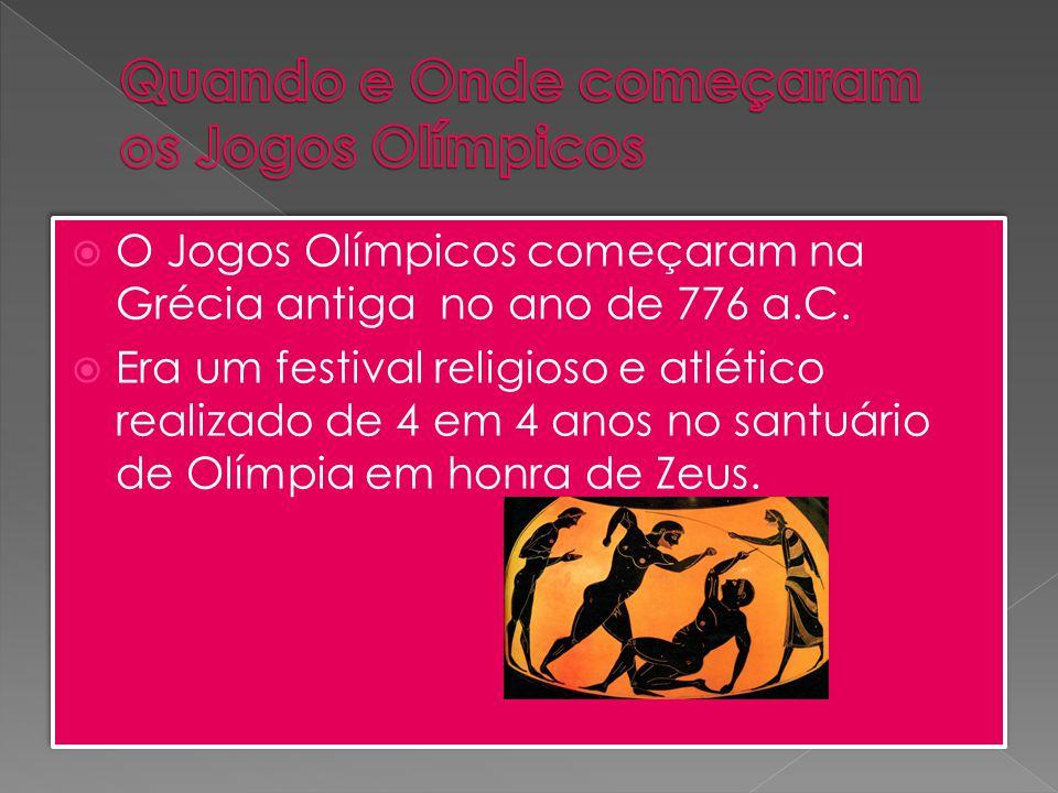 Quando e Onde começaram os Jogos Olímpicos
