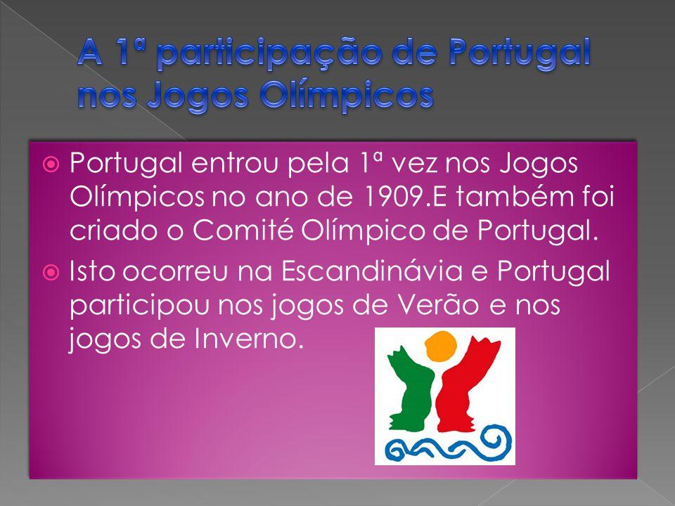 A 1ª participação de Portugal nos Jogos Olímpicos
