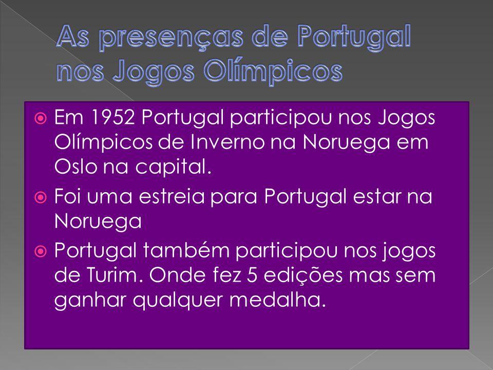 As presenças de Portugal nos Jogos Olímpicos