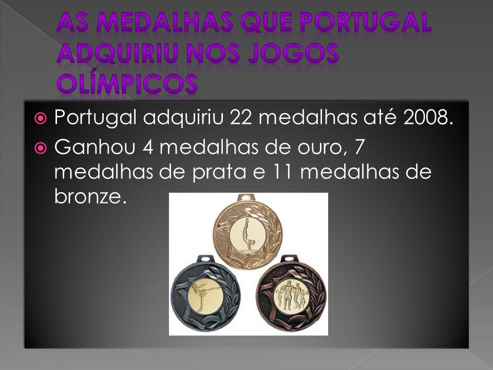 AS medalhas que Portugal adquiriu nos jogos olímpicos