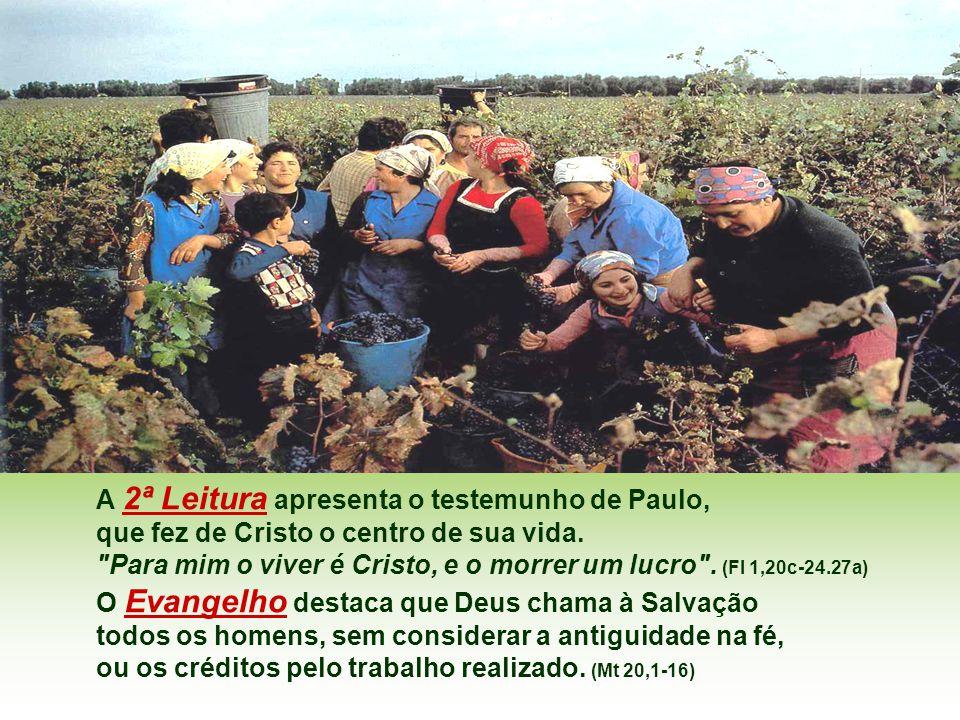 A 2ª Leitura apresenta o testemunho de Paulo,