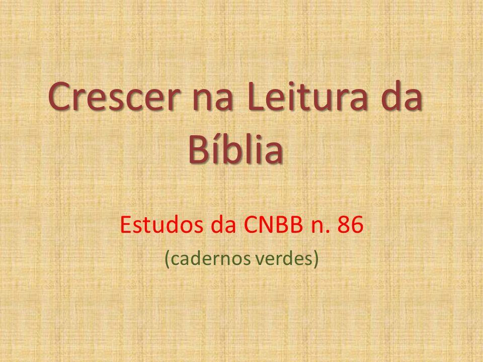 Crescer na Leitura da Bíblia