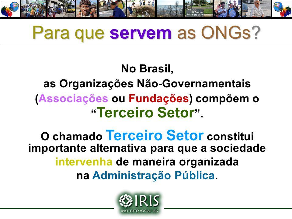 Para que servem as ONGs No Brasil, as Organizações Não-Governamentais