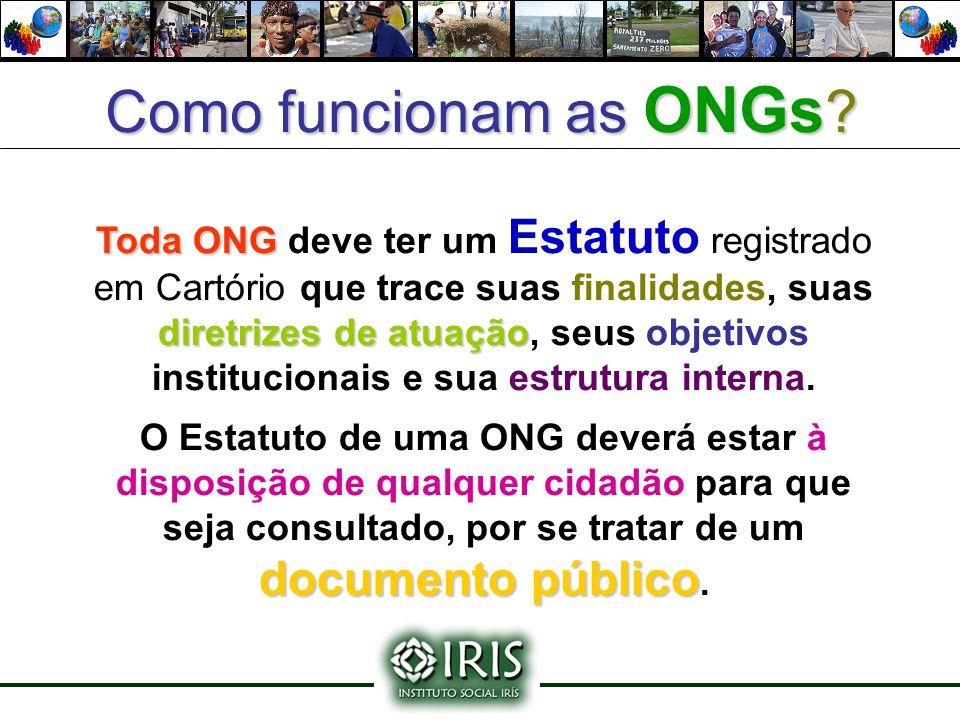 Como funcionam as ONGs