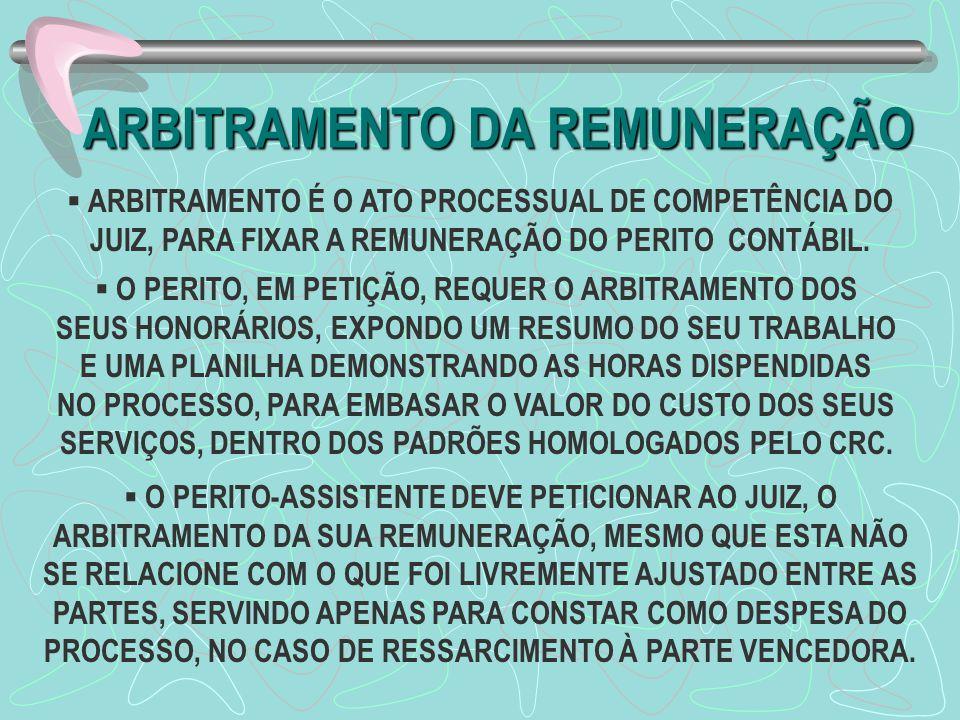 ARBITRAMENTO DA REMUNERAÇÃO